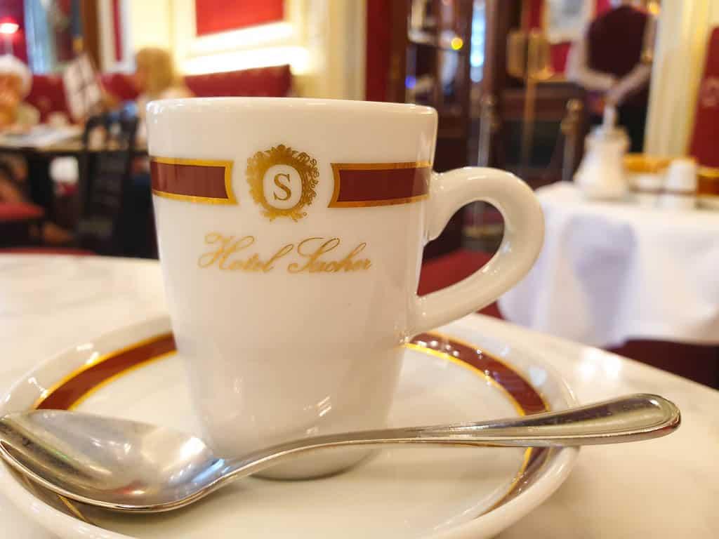 Drinking Coffee In Vienna