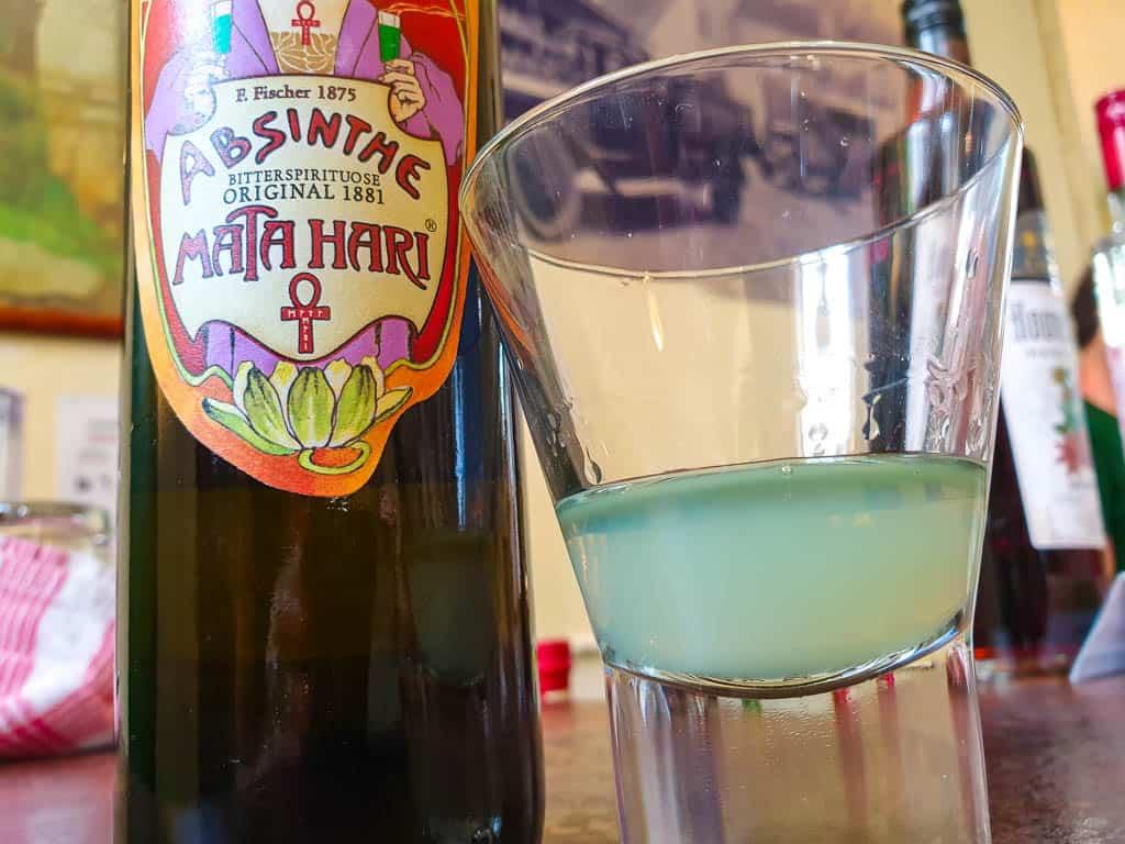 Drinking absinthe in Austria