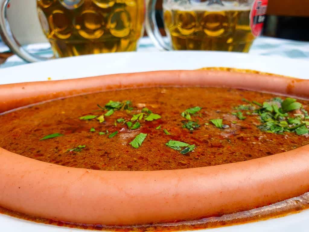Vienna Sacher Sausage With Goulash Sauce
