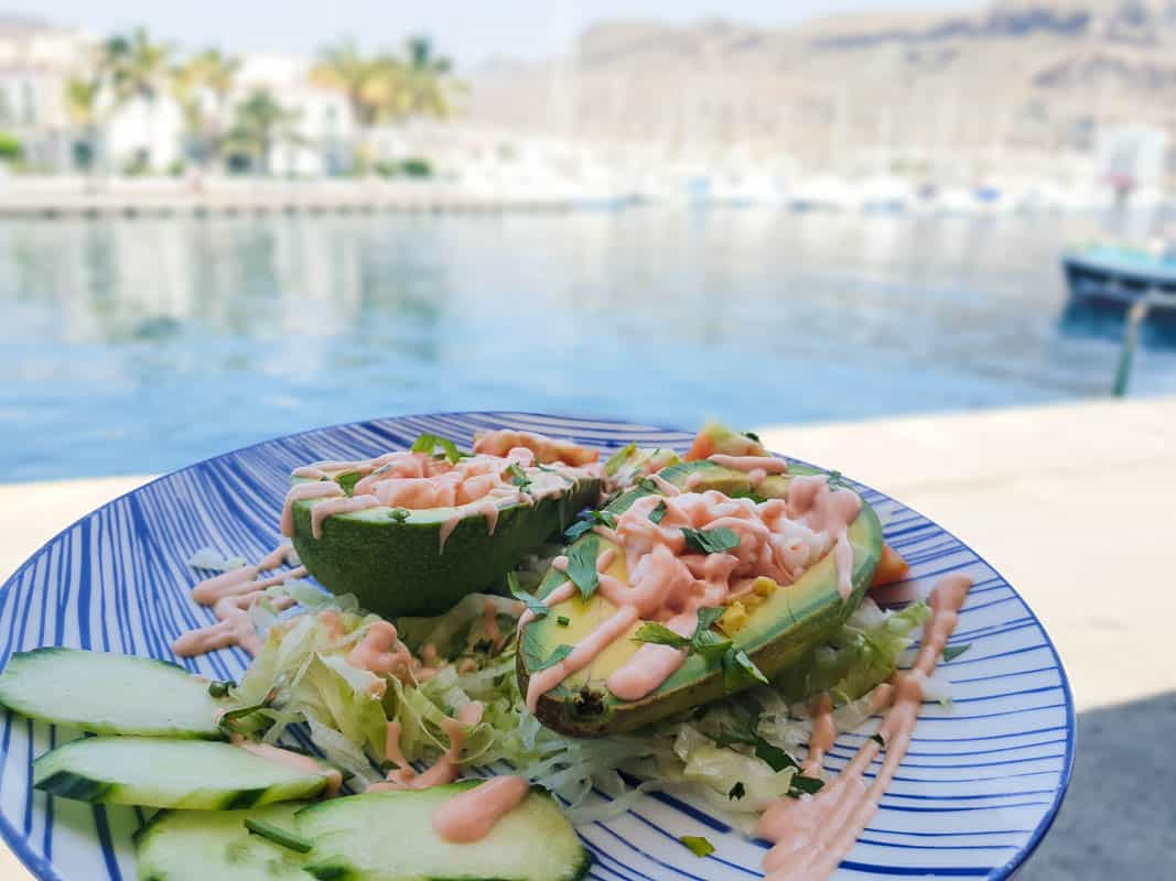 Eating Avocado In Gran Canaria