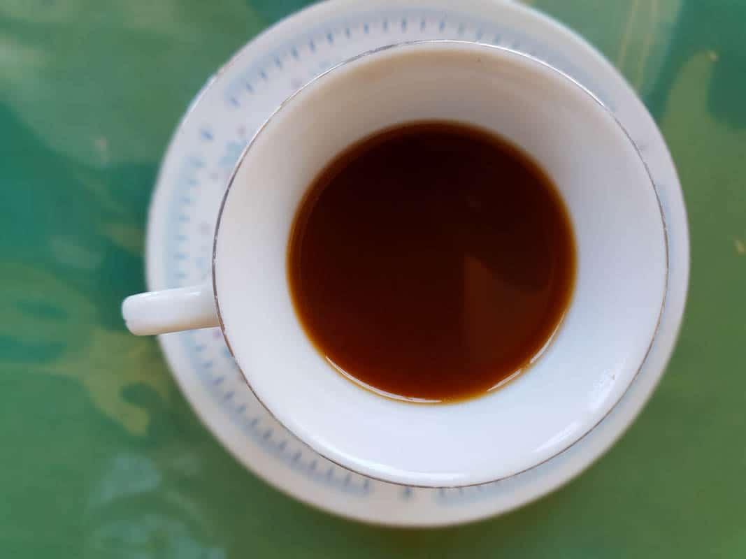 Drinking coffee in Gran Canaria
