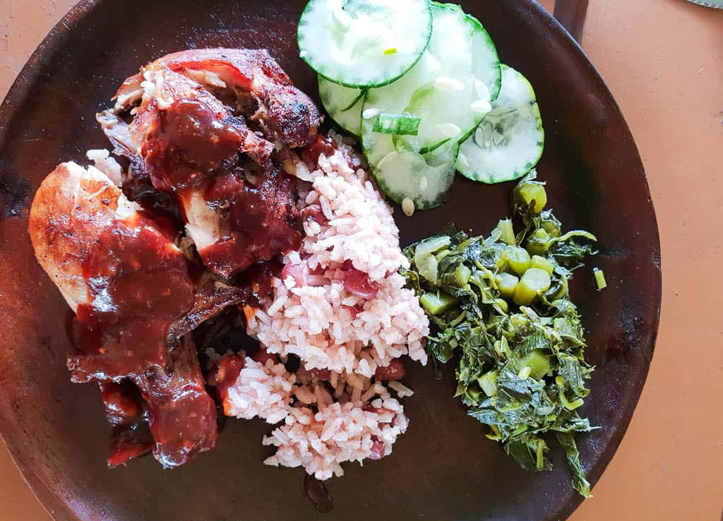 Rice And Peas With Jamaican Jerk Chicken