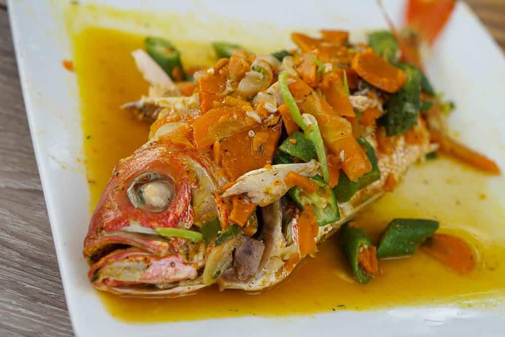 Escovitch style fish in Jamaica