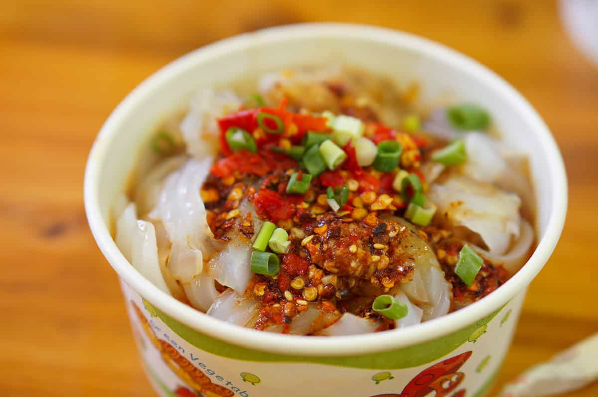 Sichuan Noodles in Chili Sauce