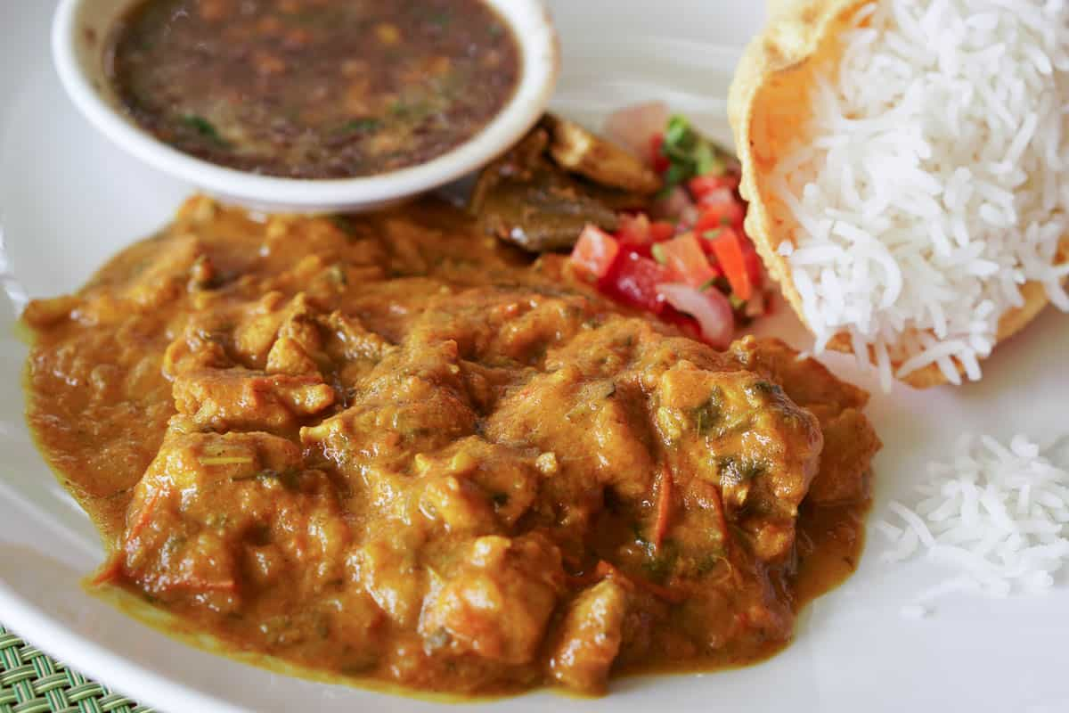 Eating Mauritian Curry