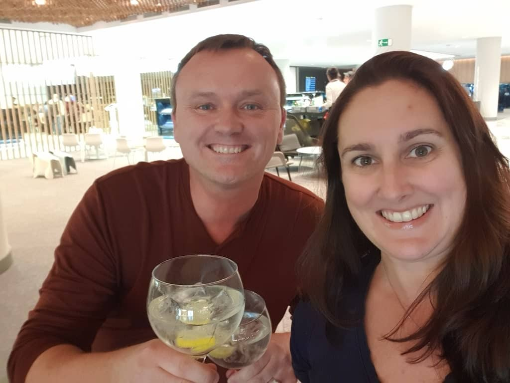 food and drink at Priority Pass airport lounge