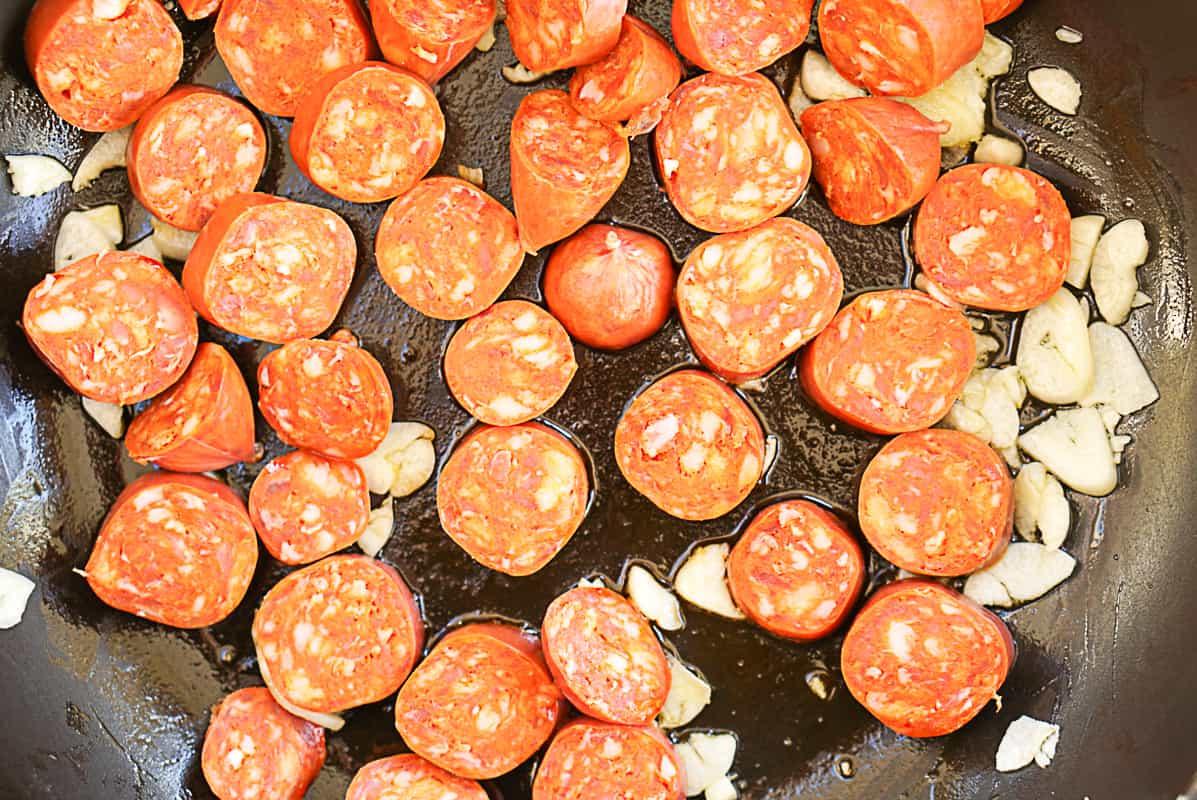 Chorizo A La Sidra recipe