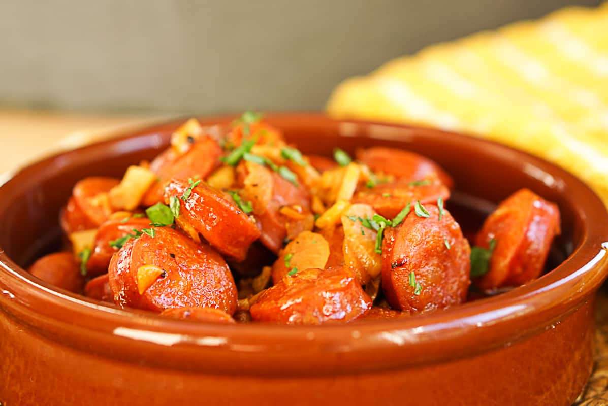 Chorizo A La Sidra - Spanish Chorizo In Cider Recipe