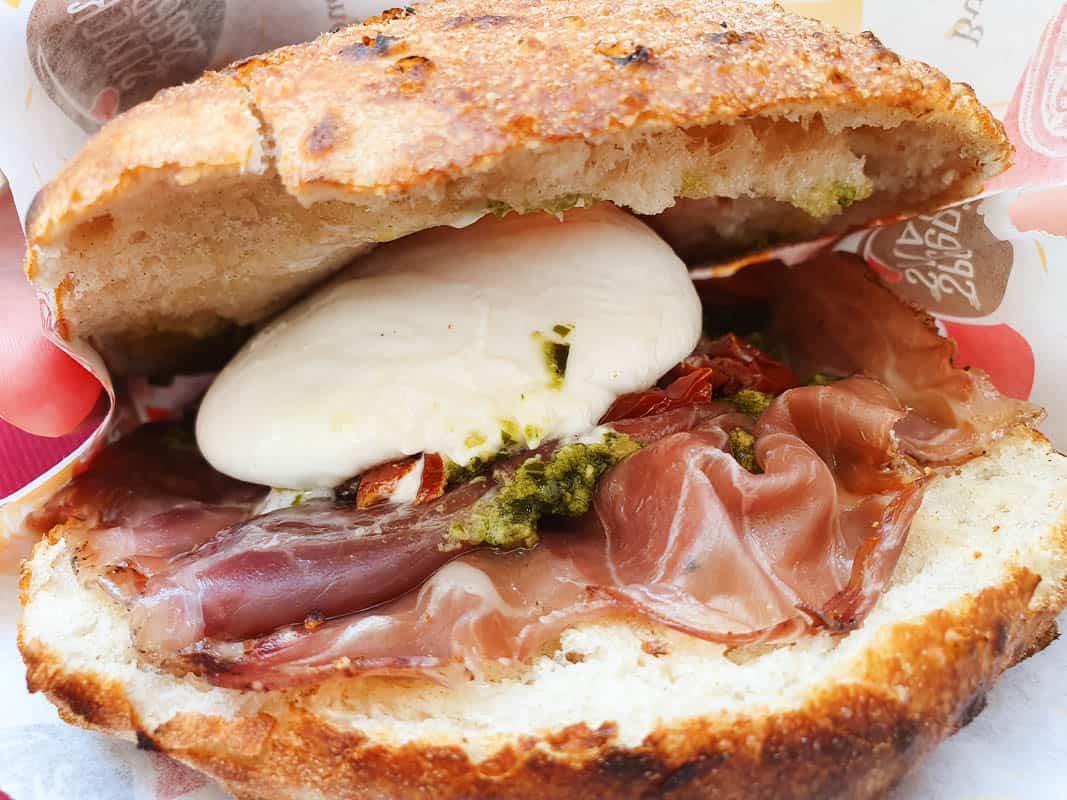 eating puccia in Puglia