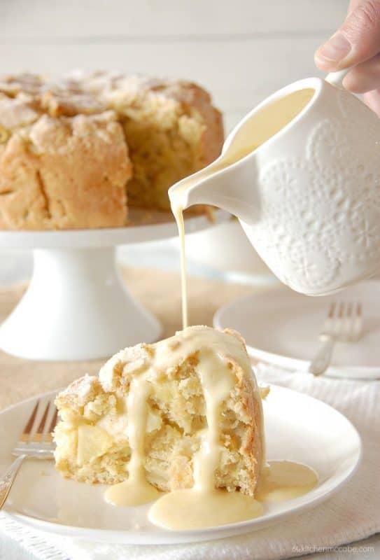 Irish Apple Cake With Custard