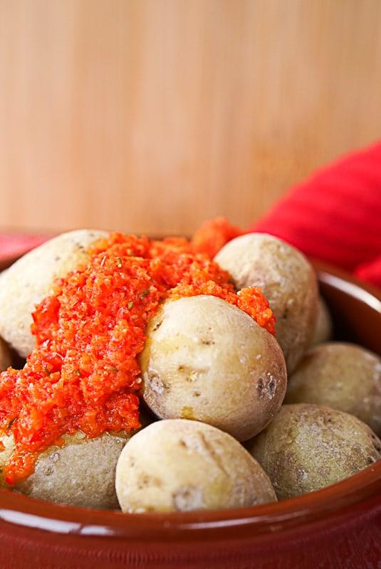 canarian potatoes with mojo sauce