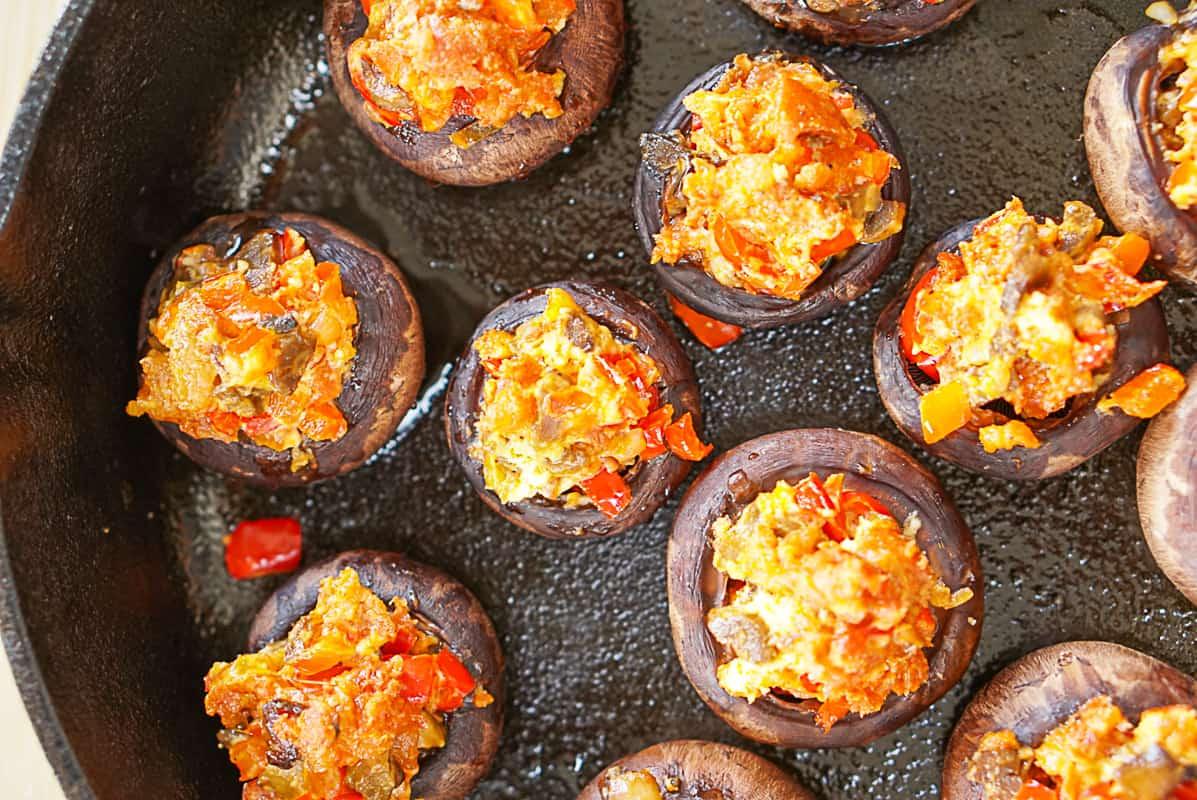 Chorizo mushrooms