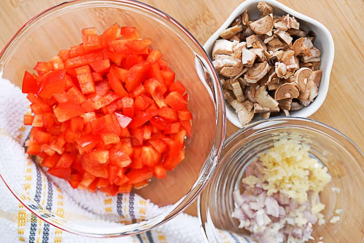 ingredients for stuffed mushrooms