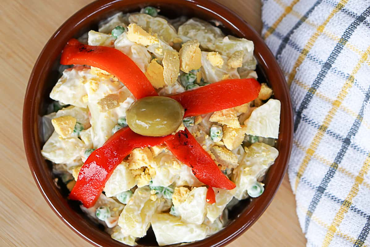 Creamy Ensaladilla Rusa Recipe - Spanish Potato Salad