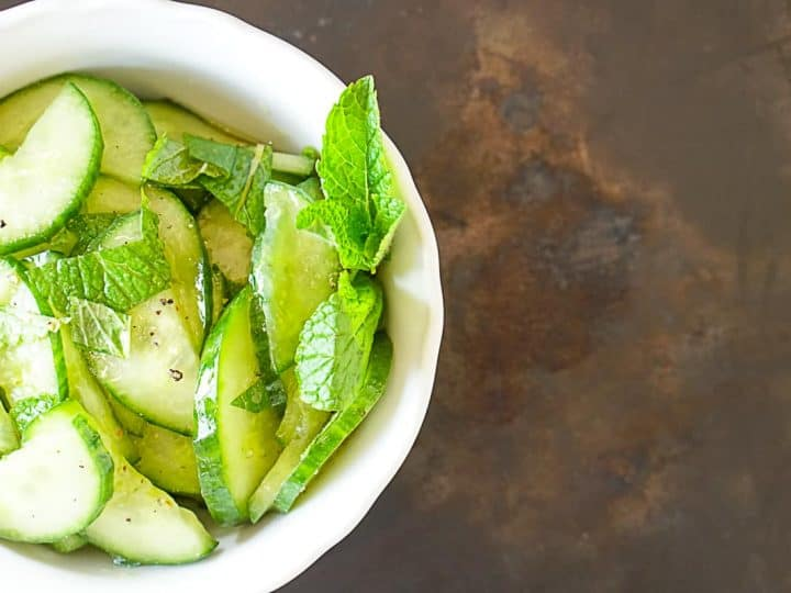 Moroccan Cucumber Salad With Mint