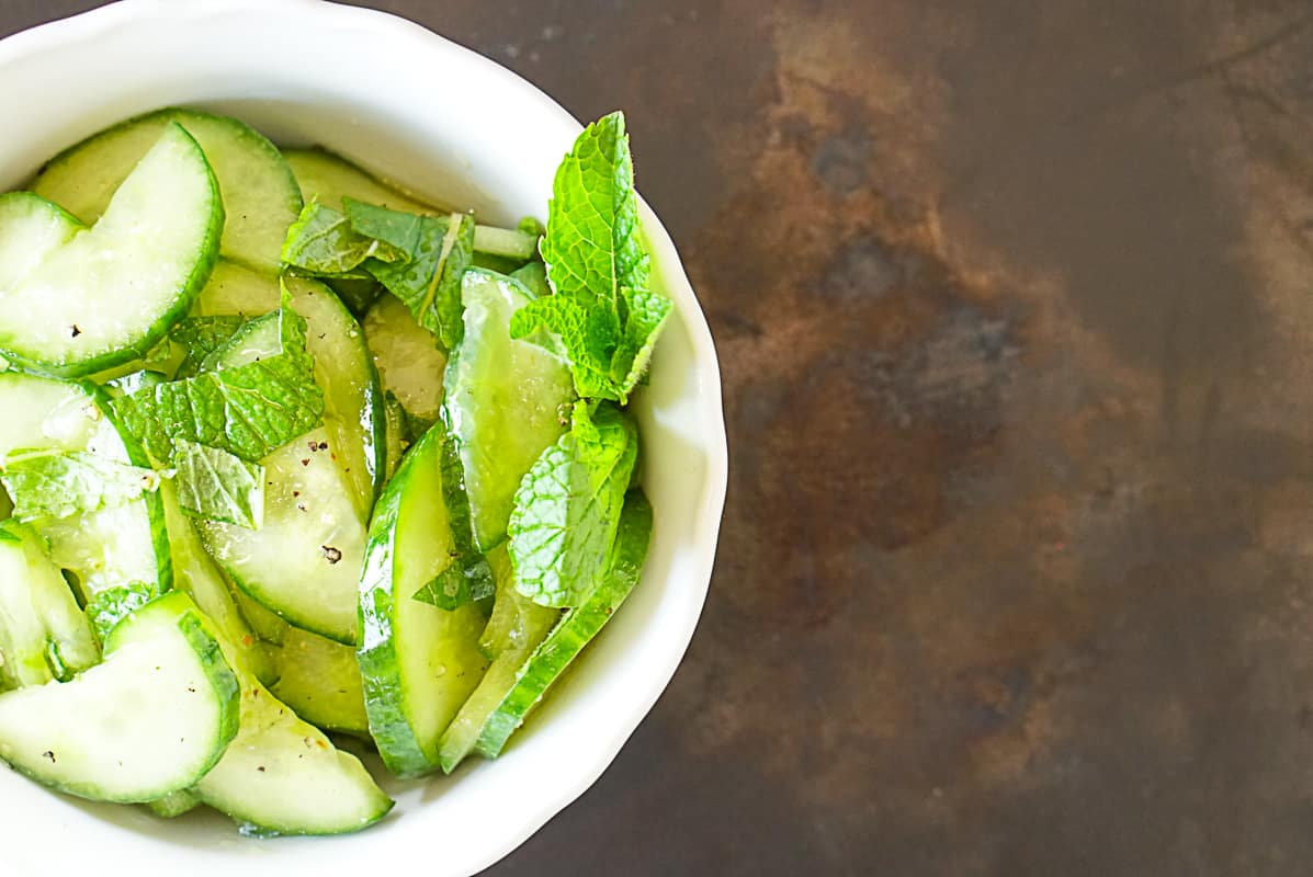 Tangy Moroccan Cucumber Salad With Mint