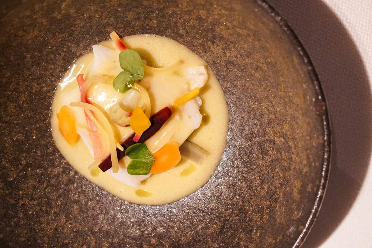 turbot from the fish menu at Can Roca