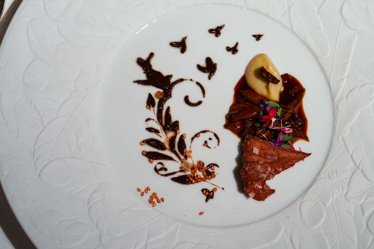 pigeon from Can Roca Meat Menu